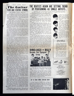 Vox Teen Beat magazine, volume I, issue 2, page 2