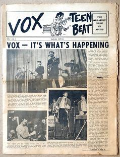Vox Teen Beat magazine, volume I, issue 3, cover