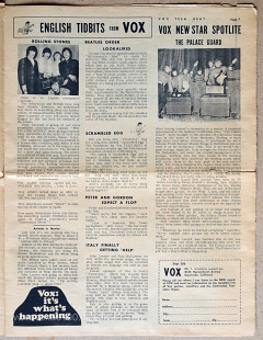 Vox Teen Beat magazine, volume I, issue 3, page 7