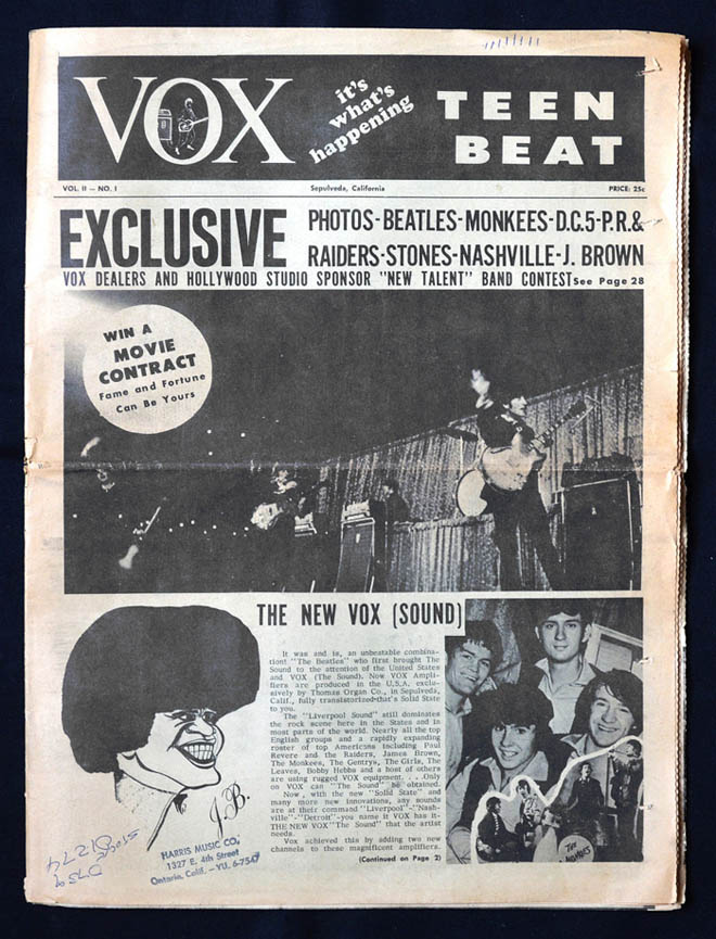 Vox Teen Beat magazine, volume II, issue 3, front cover