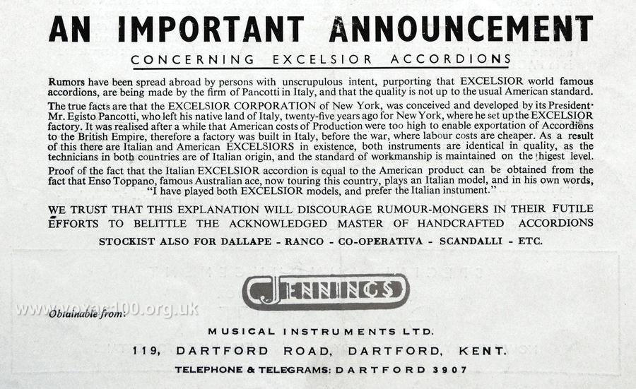 Accordionist magazine, February 1950