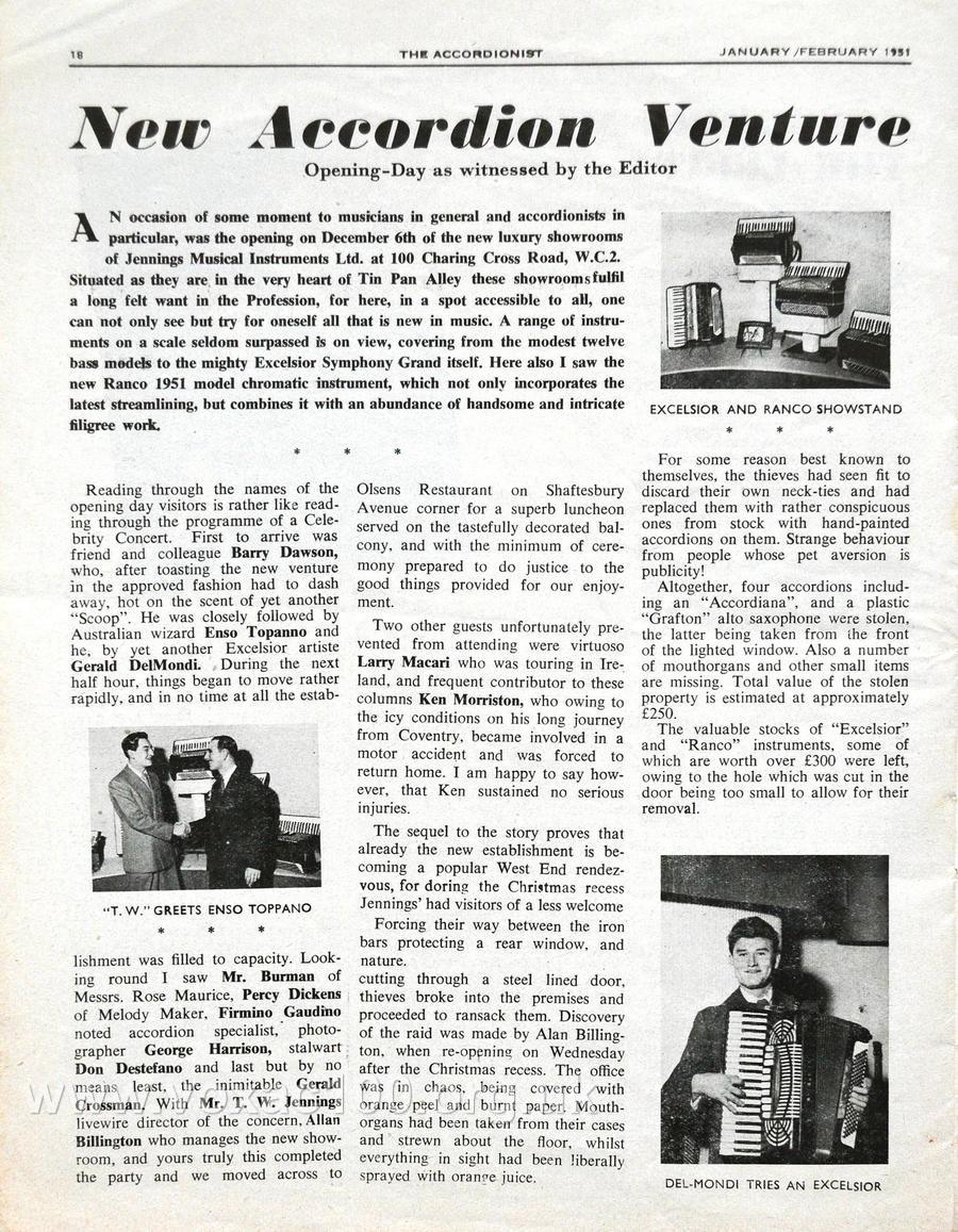 Accordionist magazine, January 1950