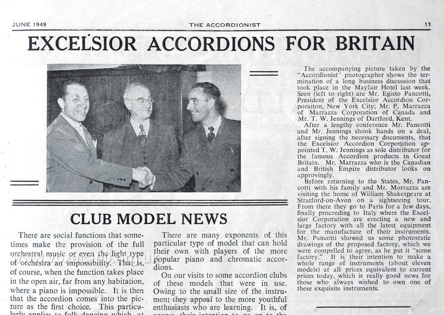 Accordionist magazine, June 1949