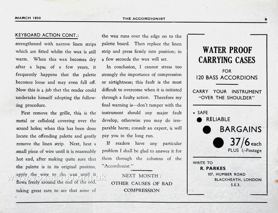 Accordionist magazine, March 1950