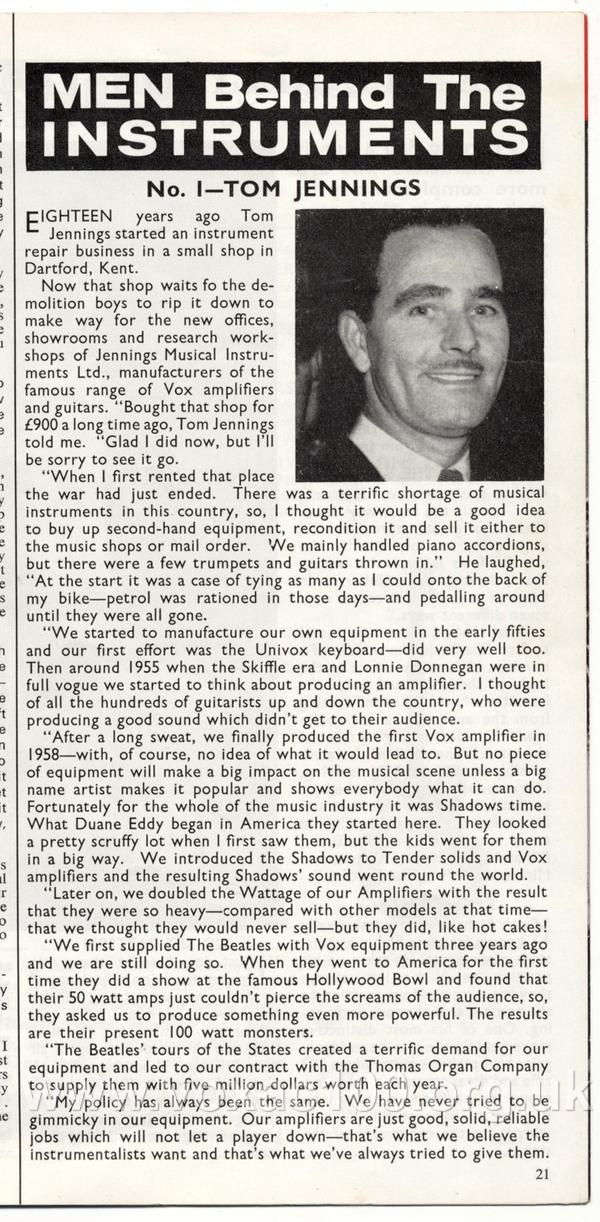Beat Instrumental magazine, November 1964