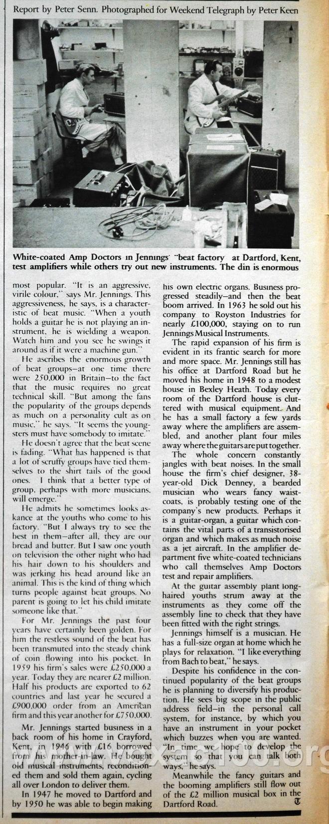 Telegraph magazine, 14th May, 1965