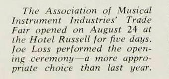 Crescendo magazine, September 1964, the BMI Trade Fair