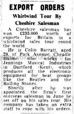Liverpool Echo, 27th November, 1965