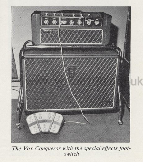 Early Vox Conqueror at the Russell Hotel show, August 1966