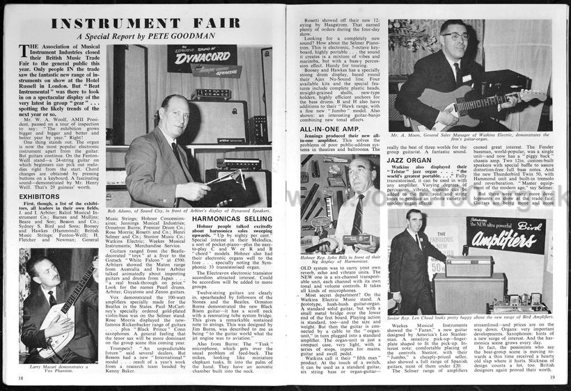 Beat Instrumental magazine, October 1964, the BMI Trade Fair