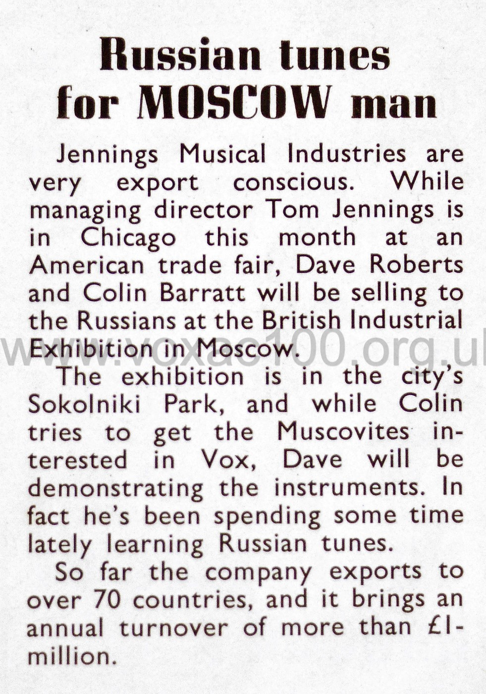 Beat Instrumental magazine, July 1966, Vox 7-series amps