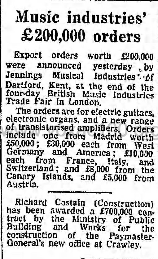 The Guardian, 26th August, 1966