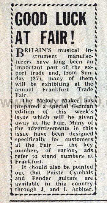 Melody Maker magazine, 26th February 1966