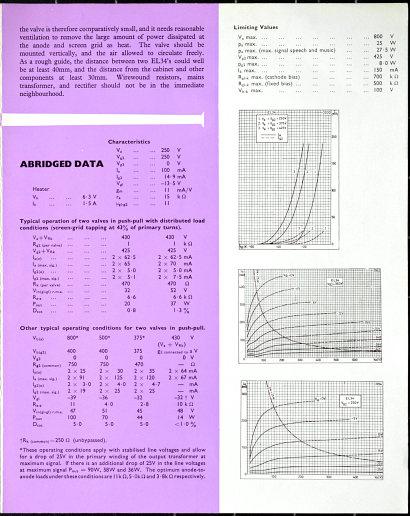 Mullard EL34 brochure