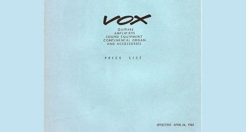 Vox Price List, April 1965