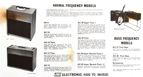 Jennings Musical Industries amplifier pricelists, Choice of the Stars catalogue and pricelist