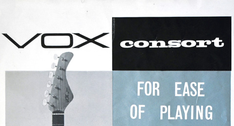JMI flyer for the Vox Consort and Escort guitars, 1961