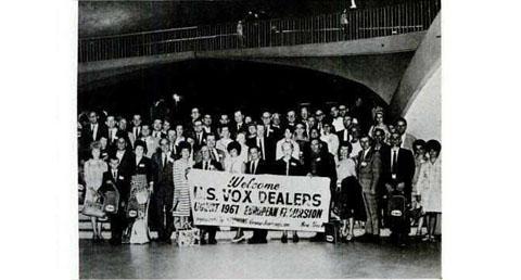 American Vox dealers visit Europe, August 1967