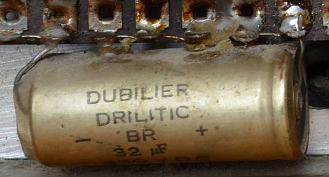 Dubilier, TCC capacitors and other components