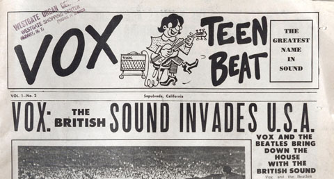 Vox Teen Beat magazine, volume I, no. 2