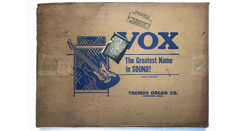 Thomas Organ packaging for amplifiers, guitars and accessories
