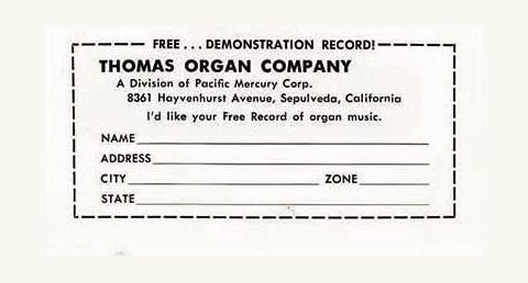 The Thomas Organ company, 1950 - 1968