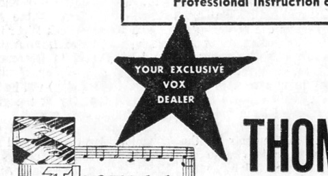 Vox dealers in the USA, late 1964 to 1967